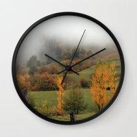 fog Wall Clocks featuring FOG by Avigur