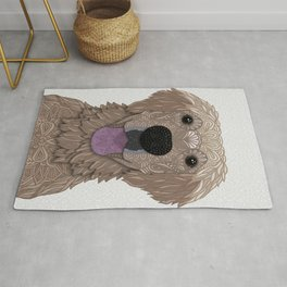 Golden Labrador Retriever Portrait Rug