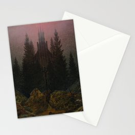 Caspar David Friedrich - Cross and cathedral in the mountains (1812) Stationery Cards