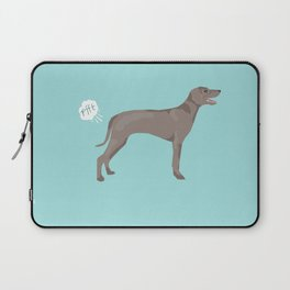 weimaraner funny farting dog breed pure breed pet gifts Laptop Sleeve