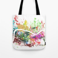 london Tote Bags featuring London by Nicksman