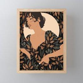 Fall Lover (Black) Framed Mini Art Print