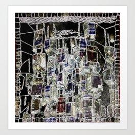 Abstract cityscape Art Print