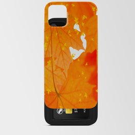 Fall Orange Maple Leaves On A White Background #decor #society6 #buyart iPhone Card Case