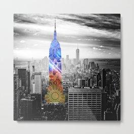 Funky Landmark - NY Metal Print