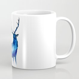 Double Exposure Deer | Space Deer | Night Sky Forest | Space Double Exposure Coffee Mug