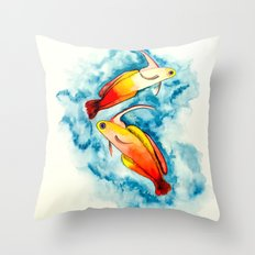 Fire Goby Throw Pillow