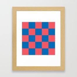 retro classic blue-and-red plaid Liderc Framed Art Print