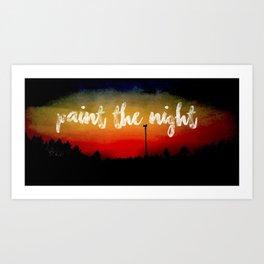 Paint the Night Art Print