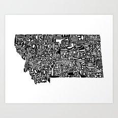 Typographic Montana Art Print
