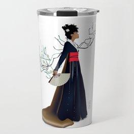 Modern Woman in Kimono Travel Mug