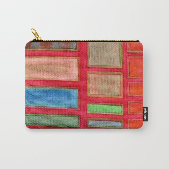 Some Chosen Rectangles orderly on Red Carry-All Pouch
