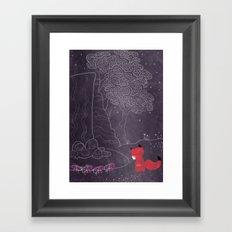 Purple on the lake Framed Art Print