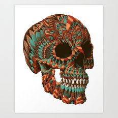 Ornate Skull (Color Version) Art Print