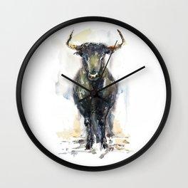 Black bull. Wall Clock