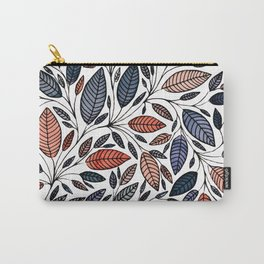 Floral Leaf Illustration *P05014 Carry-All Pouch