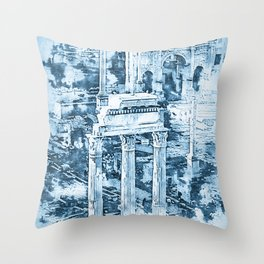 Rome Imperial Fora Throw Pillow
