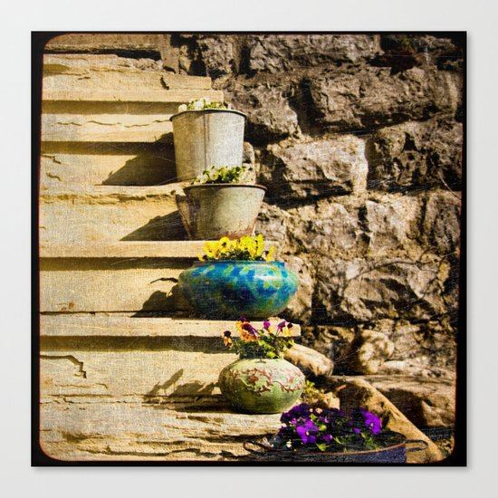 pots et marches Canvas Print