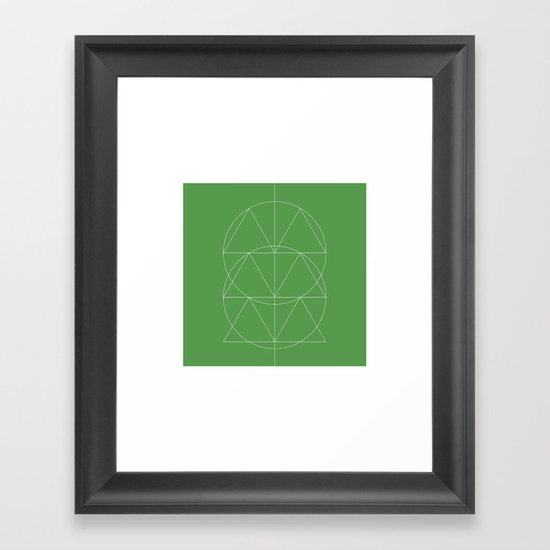 #332 Totem – Geometry Daily Framed Art Print