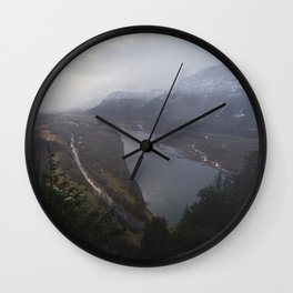 Storms over the Columbia River Gorge Wall Clock