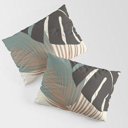 Minimal Monstera Palm Finesse #1 #tropical #decor #art #society6 Pillow Sham