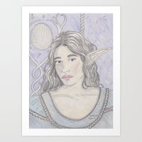 Elf Maiden Art Print