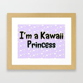 Kawaii Princess Framed Art Print