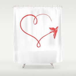 Heart Schwalbe Trajectory Flyer Gift Shower Curtain