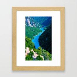 Gorges, Provence, France Framed Art Print
