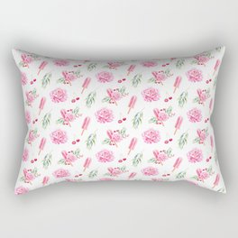 Tropical Chill Rose Pattern Rectangular Pillow