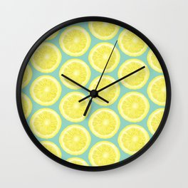 Minty Lemonade Wall Clock