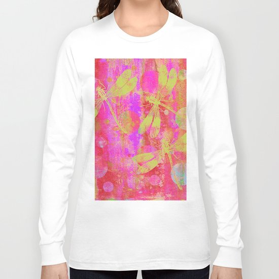 A Dragonflies and Dots Q Long Sleeve T-shirt