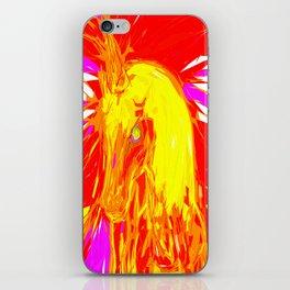 Fire Unicorn iPhone Skin