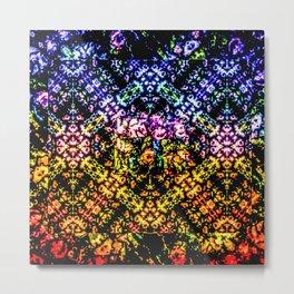 Rose Techno Colored Garden Metal Print