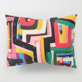 Neo Cubism Abstract Art Pattern Mystic Pillow Sham