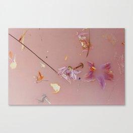 Harry Styles - pink flowers album Canvas Print
