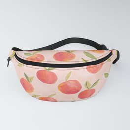 Peaches gouache painting Fanny Pack