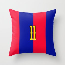 soccer team jersey number eleven Throw Pillow