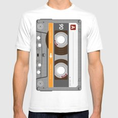 K7 Cassette 6 Mens Fitted Tee 2X-LARGE White