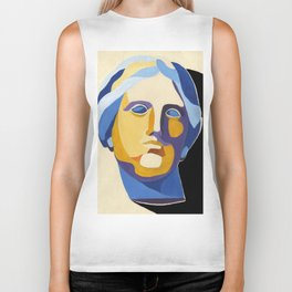 Portrait of Aphrodite, goddes of love and beauty, popart style Biker Tank