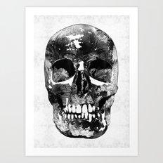 Black And White Skull by Sharon Cummings Art Print