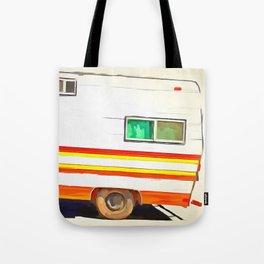 Vintage Camping Trailer Pop Tote Bag