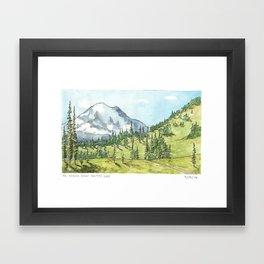 Mount Rainier from Naches Peak Loop Framed Art Print