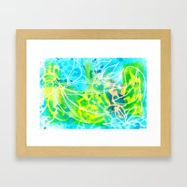 Green Aqua Framed Art Print