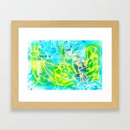 Green Aqua Framed Art Print