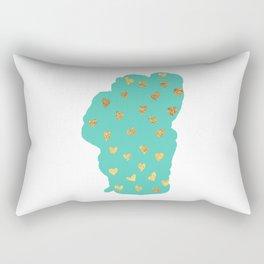 Tahoe Heart of Gold Rectangular Pillow