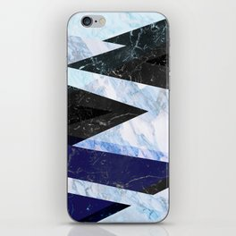 Marble stone ( frozen ) iPhone Skin
