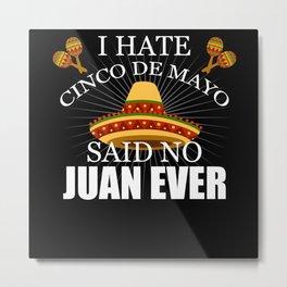 Cinco De Mayo Mexico Mexican Sombrero Metal Print