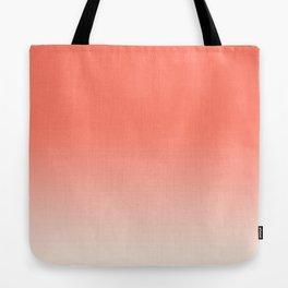 Coral Ombre, Dip Dye, Boho Tote Bag
