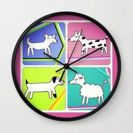 Doggy Chums Wall Clock